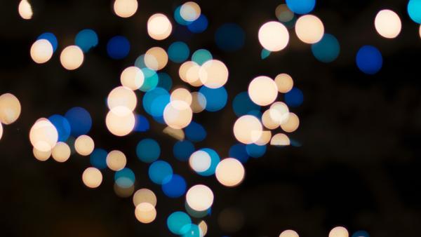 spots of faded lights