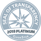 Guidestar 2018 Platinum Seal of Transparency